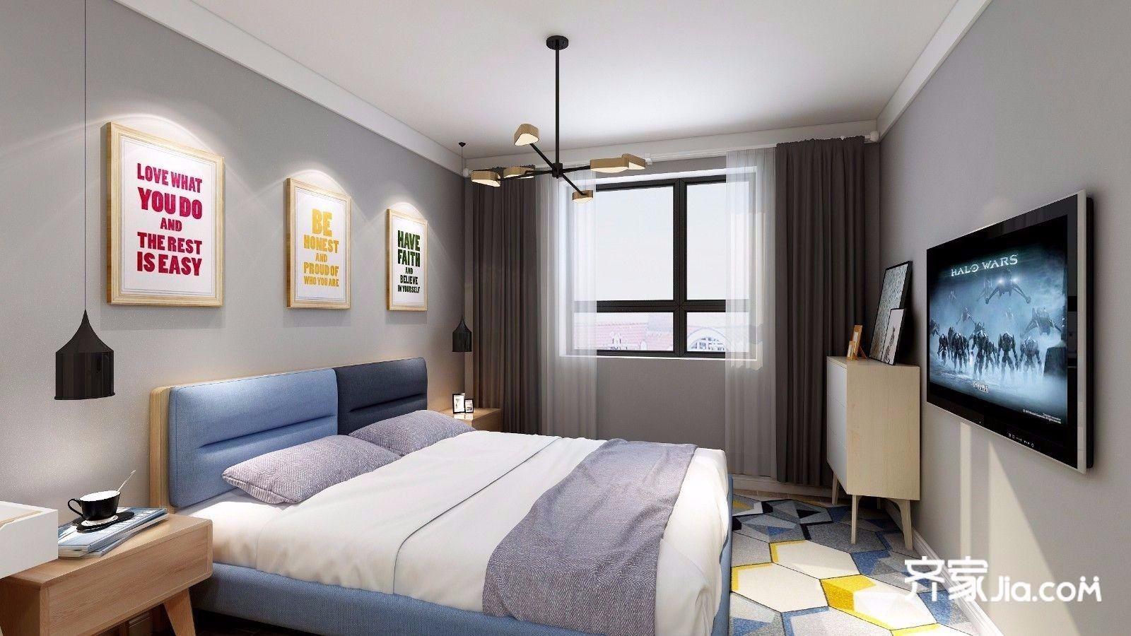 背景墙 房间 家居 起居室 设计 卧室 卧室装修 现代 装修 1600_900