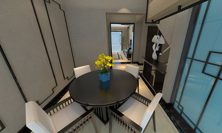 中式|餐厅3D效果图