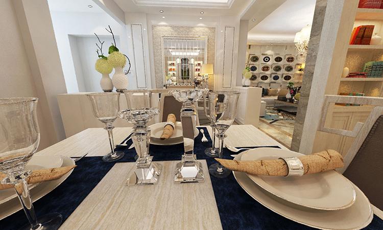 欧式|餐厅3D效果图