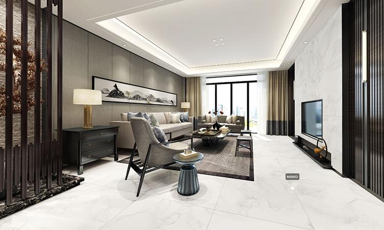 中式|客厅,餐厅3D效果图