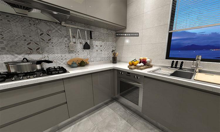 现代|厨房3D效果图