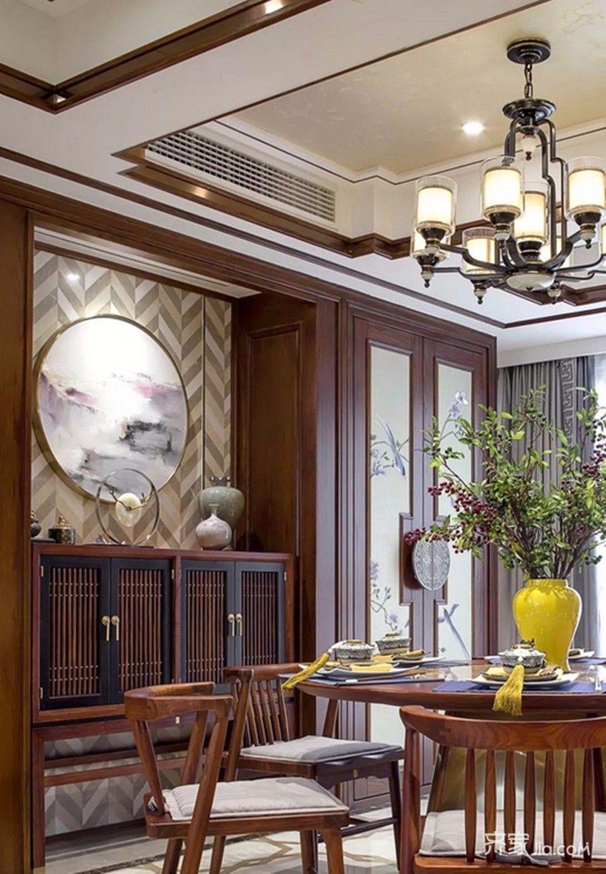 装修效果图,诗意禅韵中式四居宅装修案例效果图-齐家图片