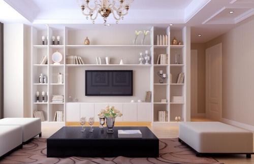 2018流行的电视背景墙简约客厅背景墙效果图
