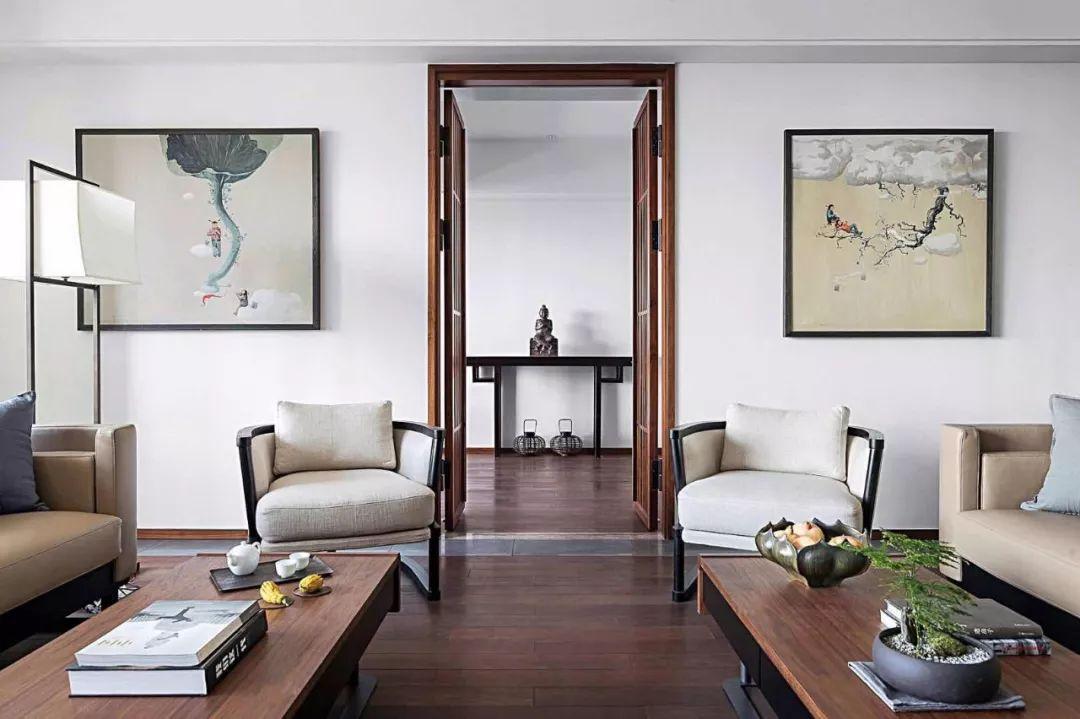 沙发背景墙,最美不过新中式!