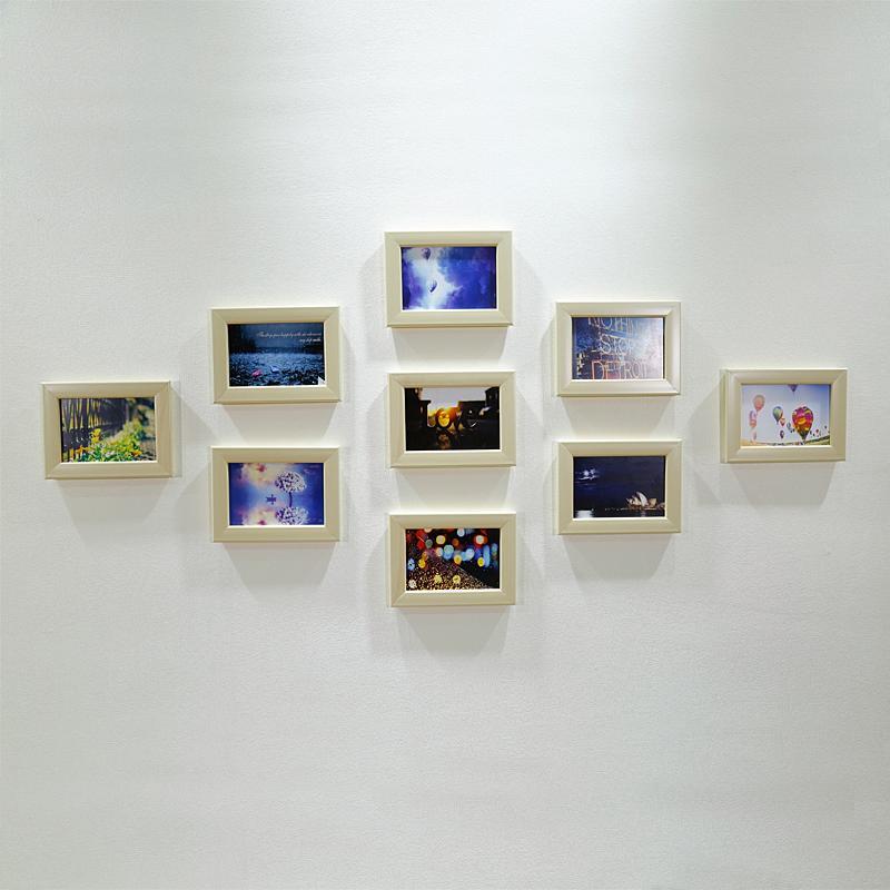 九宫格照片墙摆法图片