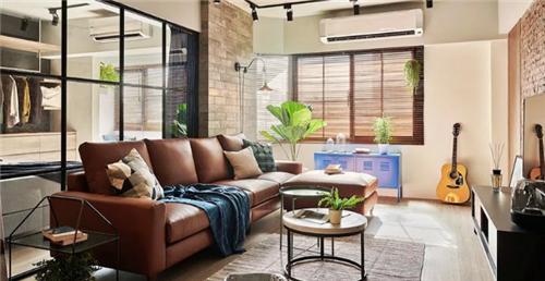 安顺装饰案例欣赏 120㎡三居室工业风装饰