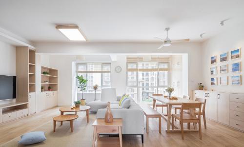 两室两厅装修案例 90㎡日式简装效果图欣赏