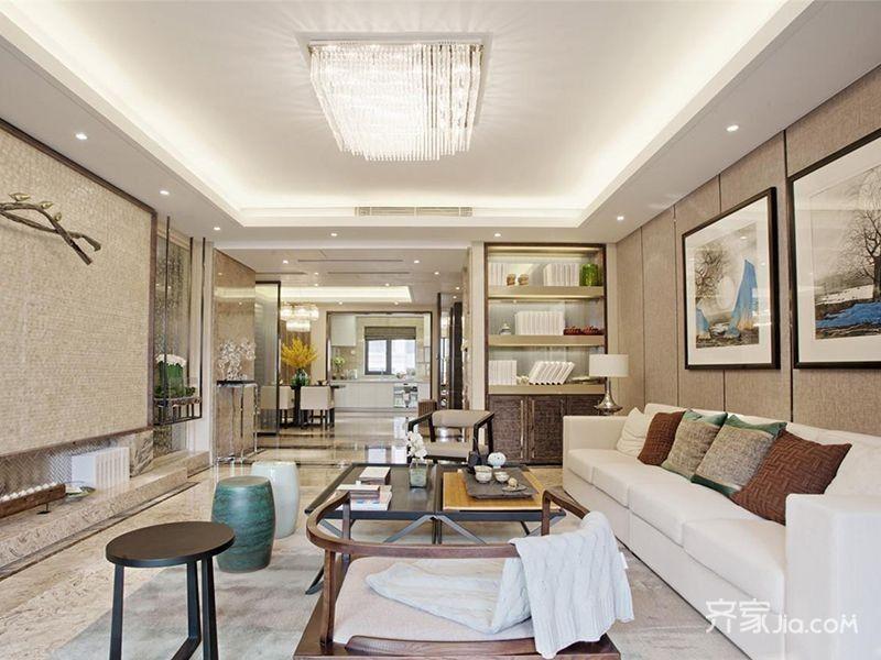 软包的客厅沙发背景墙柔化了空间质感.很多装饰都有一种秋衣感.图片