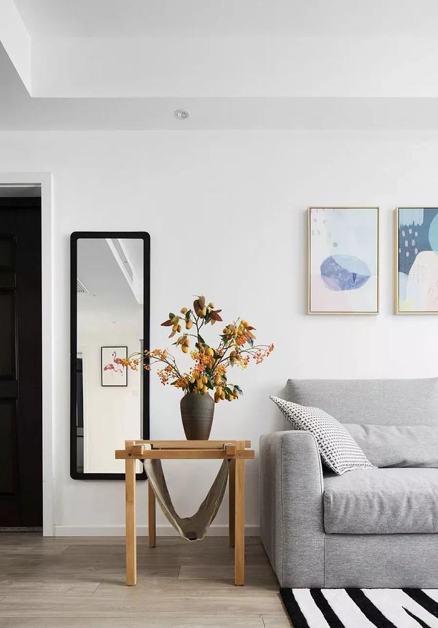 89平米北欧风格装修效果图,清爽水泥质感元素图片