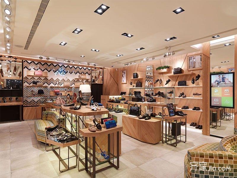 24万160平米loft商用装修效果图,a.s.o鞋包专卖店装修