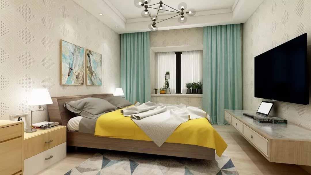 户型卧室带飘窗,窗帘是装在飘窗中还是卧室内?_装修