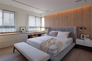大户型现代北欧风卧室装修效果图图片