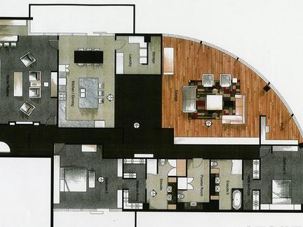 160平方米房子装修的设计图怎么画