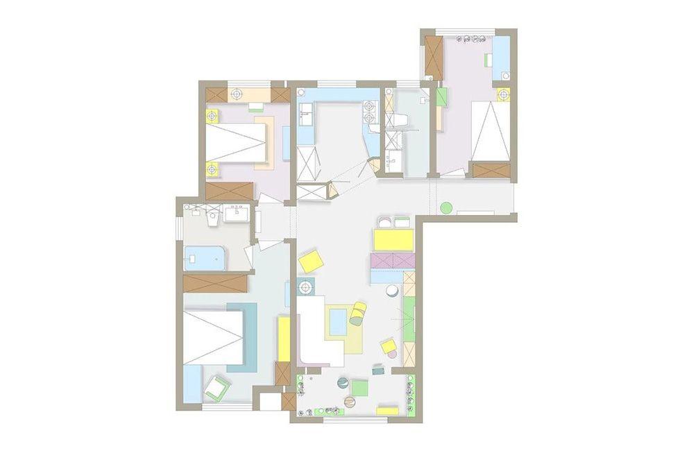 6万120平米简约三居室装修效果图,让这个家美的与!