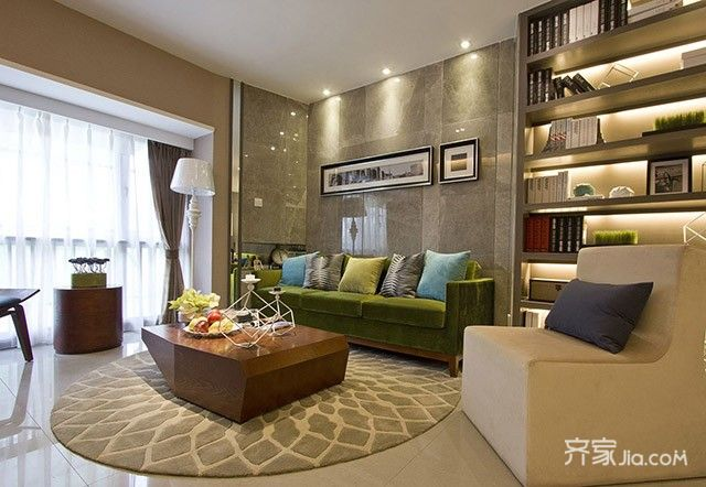現代簡約一居室 (2)
