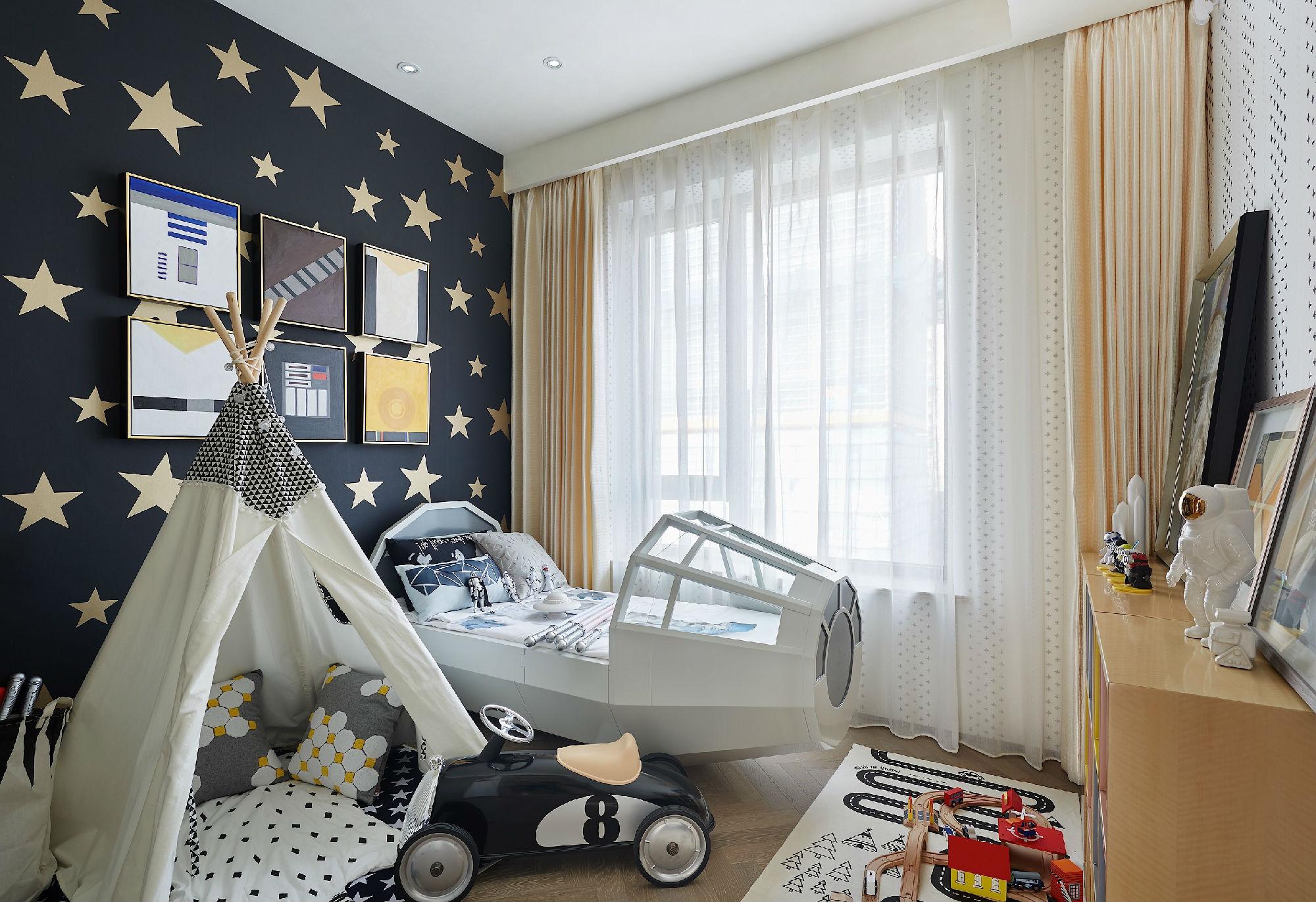 135平现代北欧风儿童房装修效果图
