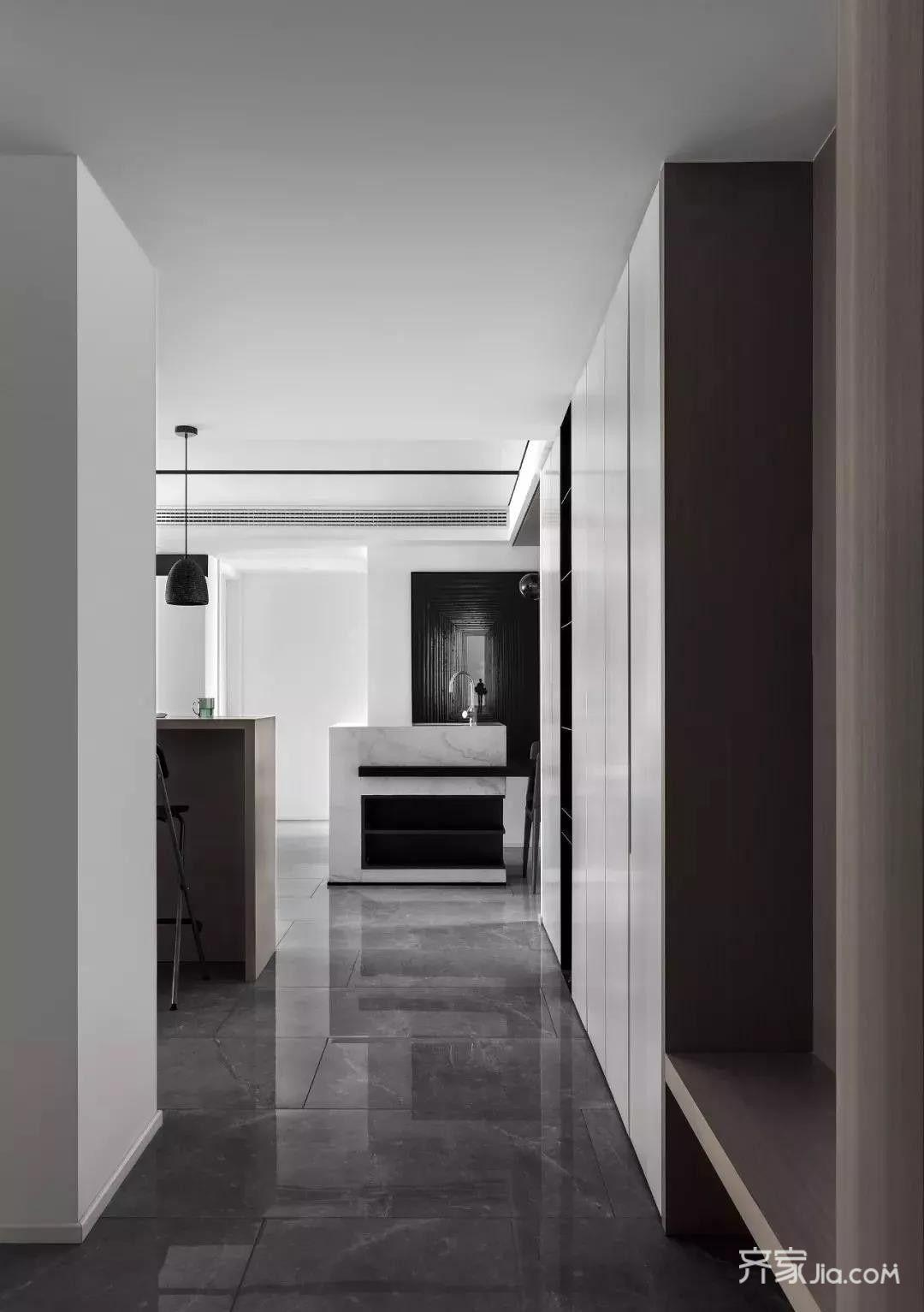 130㎡黑白灰美式风装修