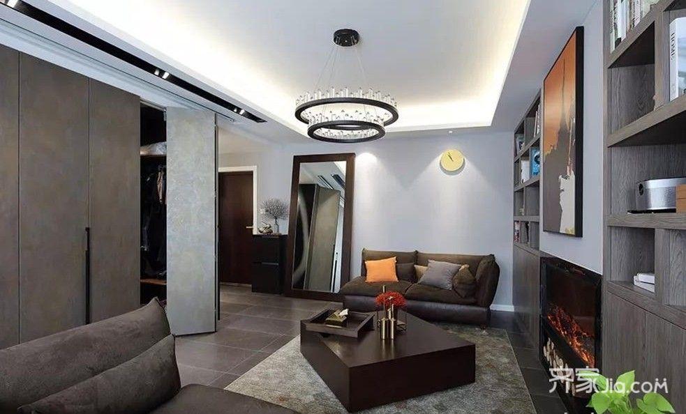 80㎡三居室中式現代風