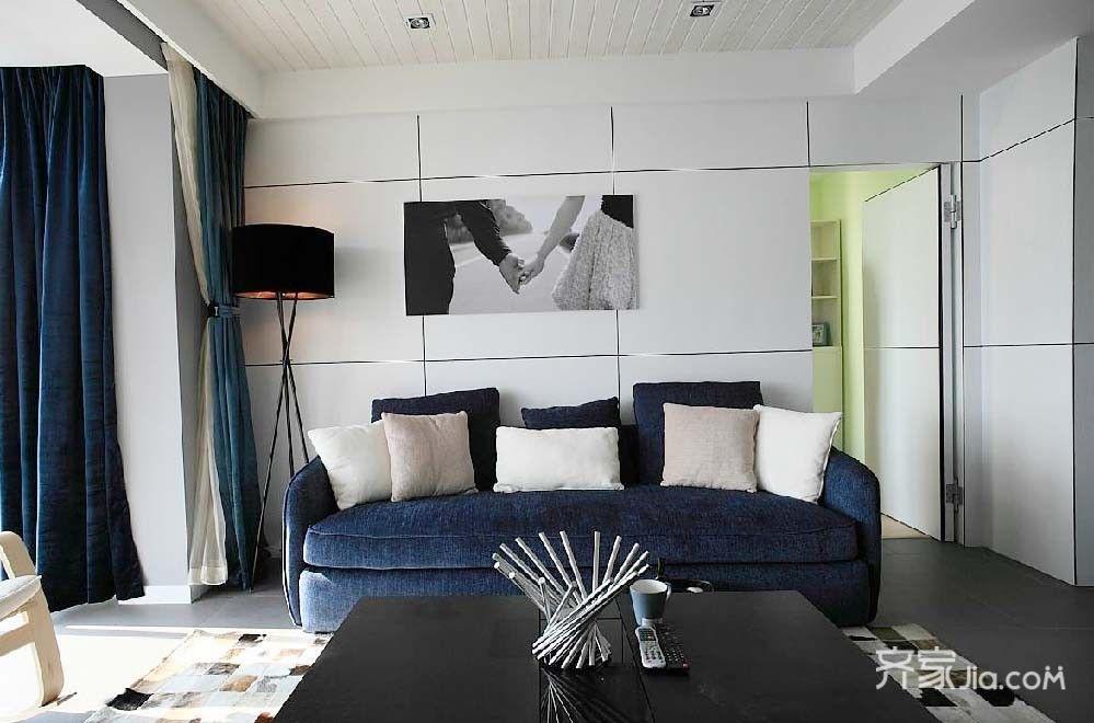 78㎡三居室現代簡約風
