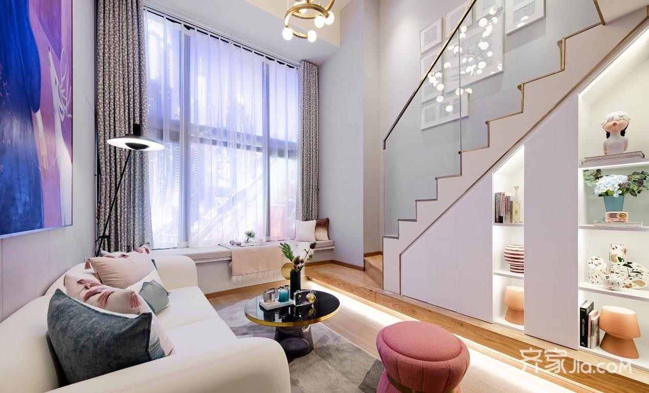 8万30平米现代loft装修效果图,单身公寓轻奢案例装修