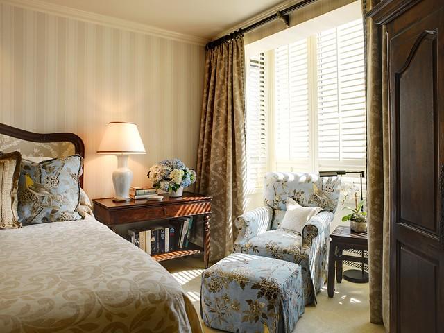 田园风格卧室布艺沙发设计