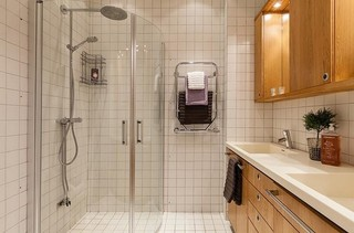 文艺美式卫生间淋浴房设计