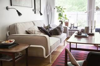复古北欧风情客厅 布艺沙发欣赏