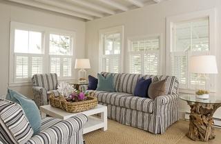 宜家风格客厅布艺沙发装饰图