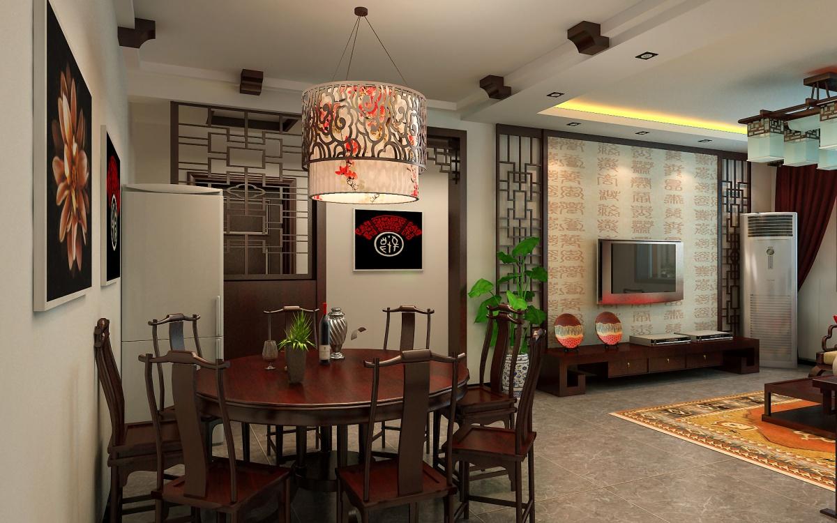 典雅清朝中式 两室两厅效果图