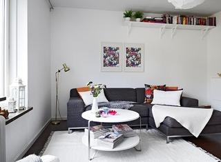 简约现代风客厅 布艺沙发效果图