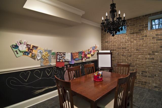 复古田园风餐厅 文化砖背景墙效果图