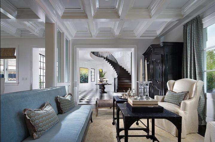 华丽欧式客厅吊顶装修效果图图片