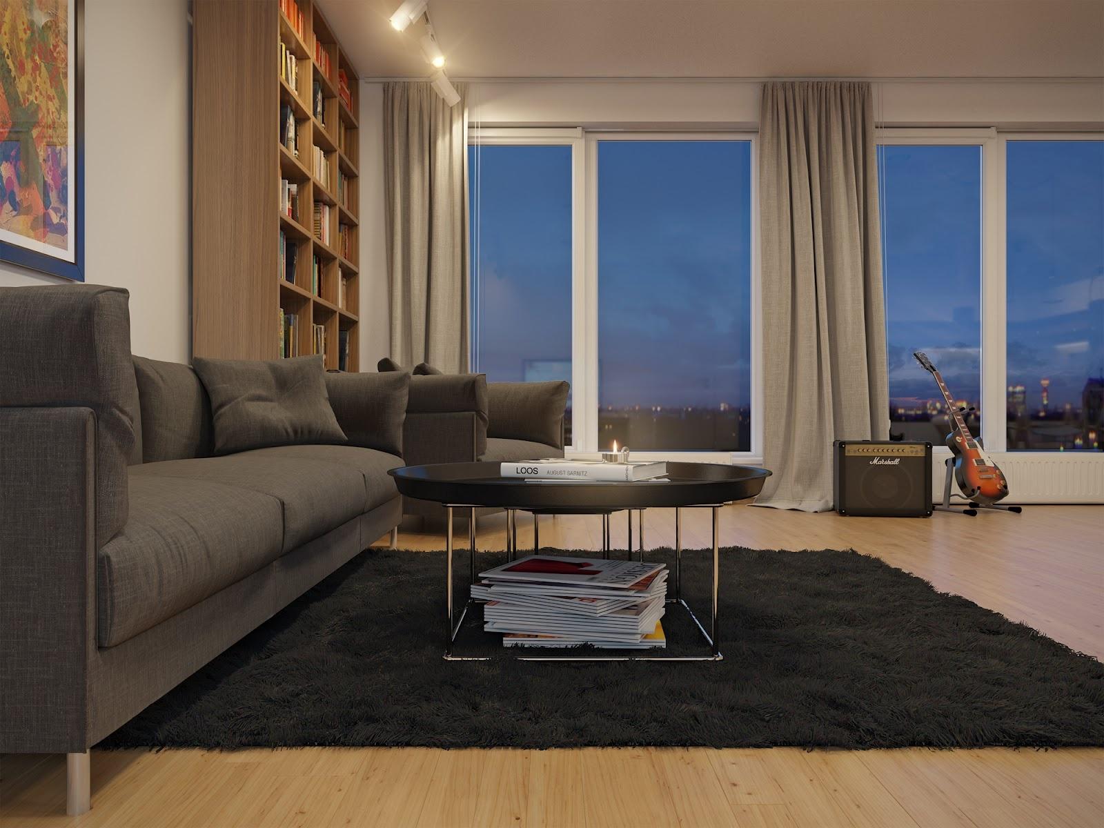 25平米客厅平面图