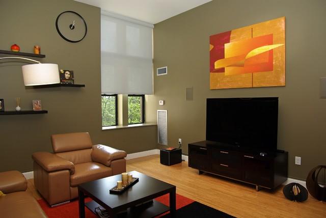 现代风小户型客厅背景墙设计