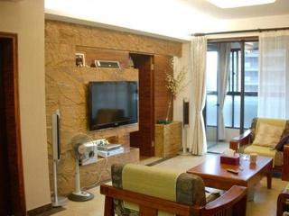 家装客厅隐形门电视背景墙设计效果图