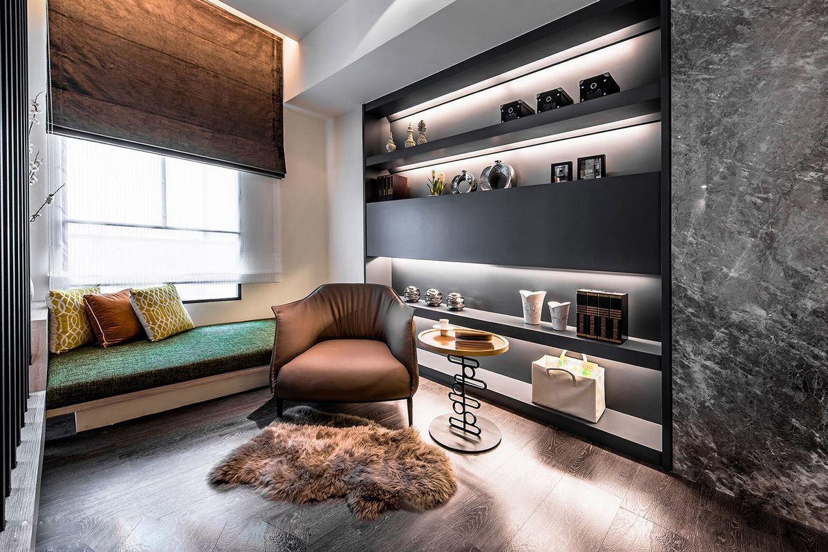 沉稳现代风格三居室装修设计