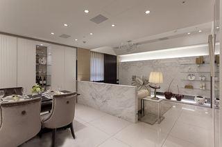 时尚高端现代式 98平三居装潢案例