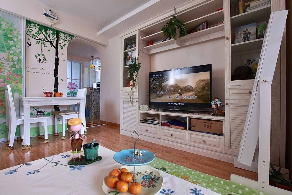 田园风格客厅电视柜设计