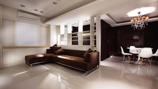 深咖色现代公寓室内装饰图