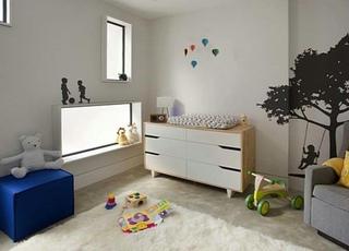现代家装儿童房窗户设计图
