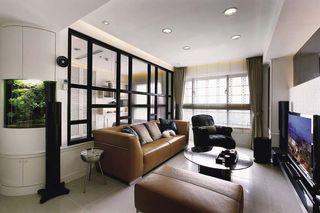 时尚混搭两室两厅装修设计