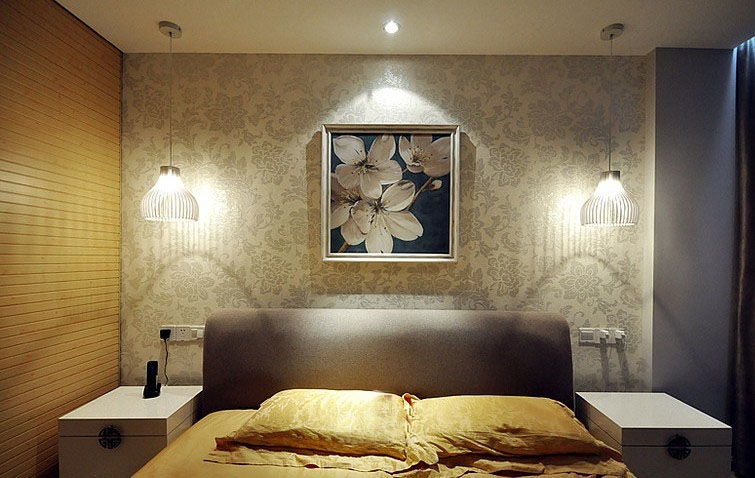 新中式风格卧室挂画欣赏_齐家网装修效果图图片
