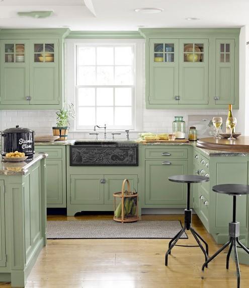 田园风格厨房装饰效果图