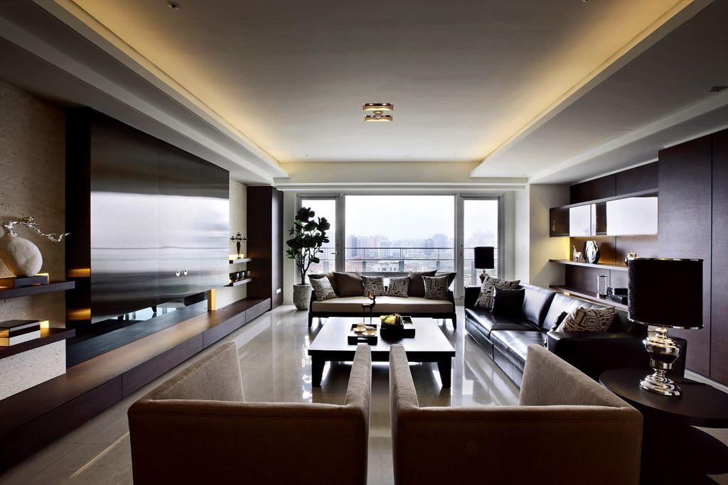 沉稳现代美式客厅装饰大全