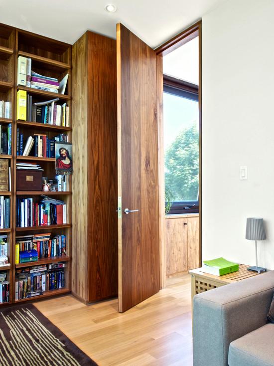 中式家装设计书房隐形门欣赏效果图片