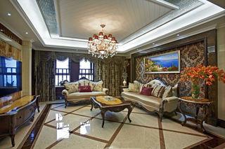 奢华宫廷欧式客厅装饰大全