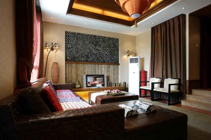 东南亚风格客厅家装效果图