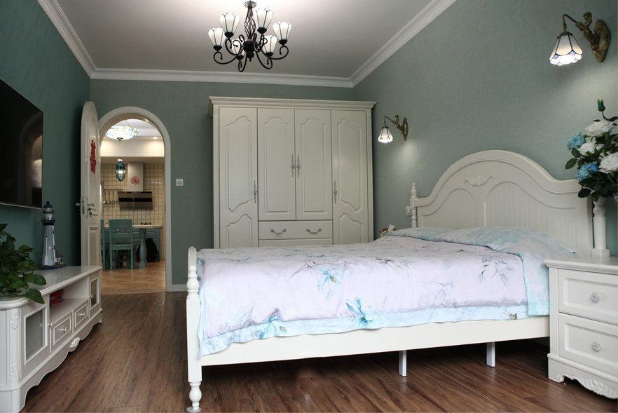 蓝色地中海风情卧室效果图