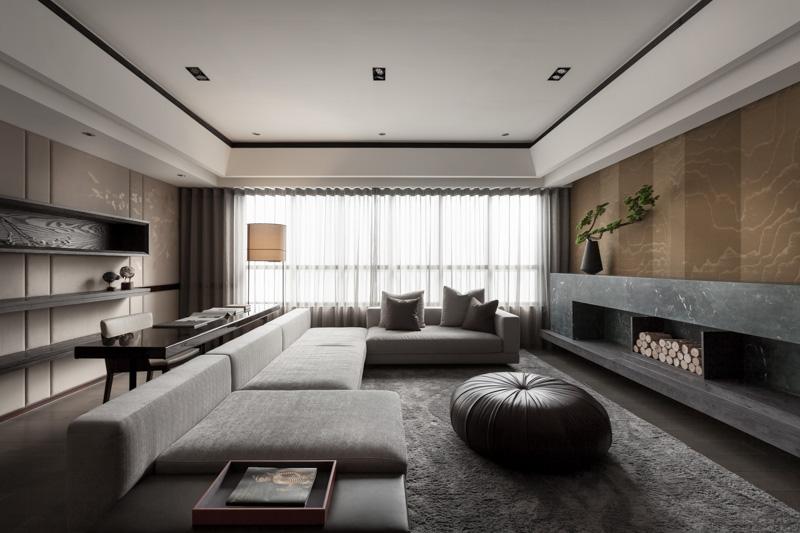淡雅日式110平三居室内装修