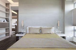 极简风情卧室床头效果图